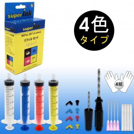 superInk Refill Set (4 colors)