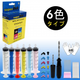 superInk リフィル セット(6色)